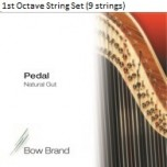 Bow Brand Pedal Natural Gut String Set - 1st Octave (9 Strings)