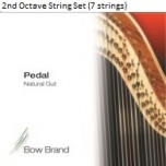 Bow Brand Pedal Natural Gut String Set - 2nd Octave (7 Strings)