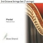 Bow Brand Pedal Natural Gut String Set - 3rd Octave (7 Strings)