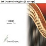 Bow Brand Pedal Natural Gut String Set - 5th Octave (5 Strings)