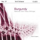 Bow Brand Burgundy Pedal Gut - 3rd Octave C