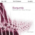 Bow Brand Burgundy Pedal Gut - 3rd Octave G