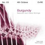 Bow Brand Burgundy Pedal Gut - 4th Octave Set (7 strings)