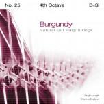 Bow Brand Burgundy Pedal Gut - 4th Octave B