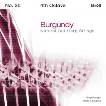 Bow Brand Burgundy Pedal Gut - 4th Octave G